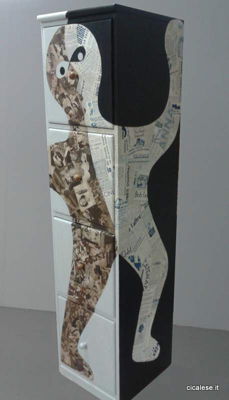 EQUILIBRIO MOBILE (2013) collage (136x33x33)